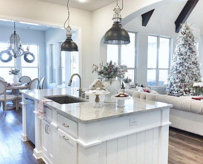 itchen island countertop is Superwhite Quartzite. Kitchen ...