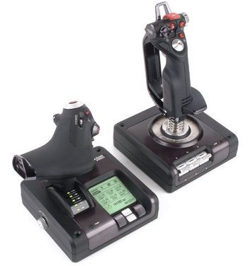 Saitek X52 Pro Flight Control System - The most fully integrated stick and throttle flight controller: built to meet the demands of the best virtual pilots in the world!