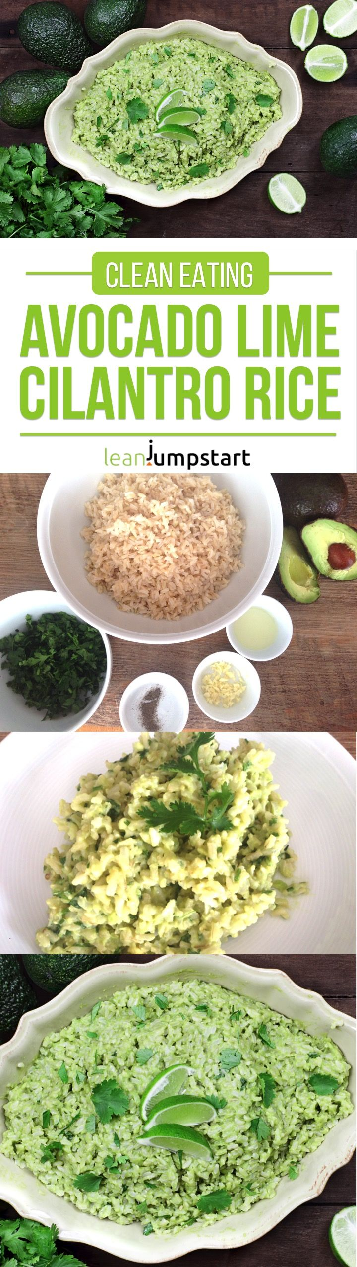 Cilantro Lime Rice With Avocado – a quick and easy clean eating dish