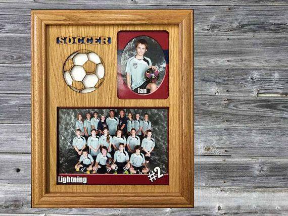 Soccer Picture Frame, Girls Soccer Frame, Boys Soccer Frame, Soccer Gift, Personalized Laser Engraved Picture Frame