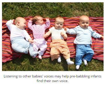 Pre-Babbling Babies Prefer Baby Sounds to Adult Sounds - pinned by @PediaStaff – Please Visit  ht.ly/63sNt for all our pediatric therapy pins