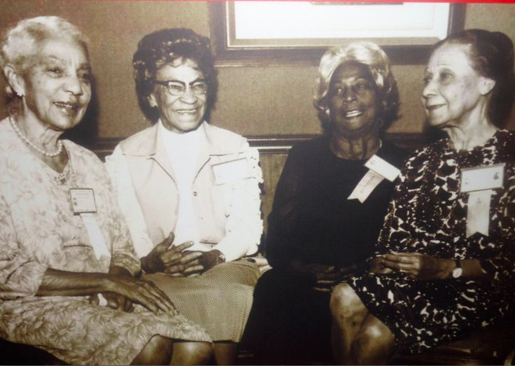 Founders Winona Cargile Alexander, Bertha Pitts Campbell, Zephyr Chisom Carter and Oseola McCarthy Adams