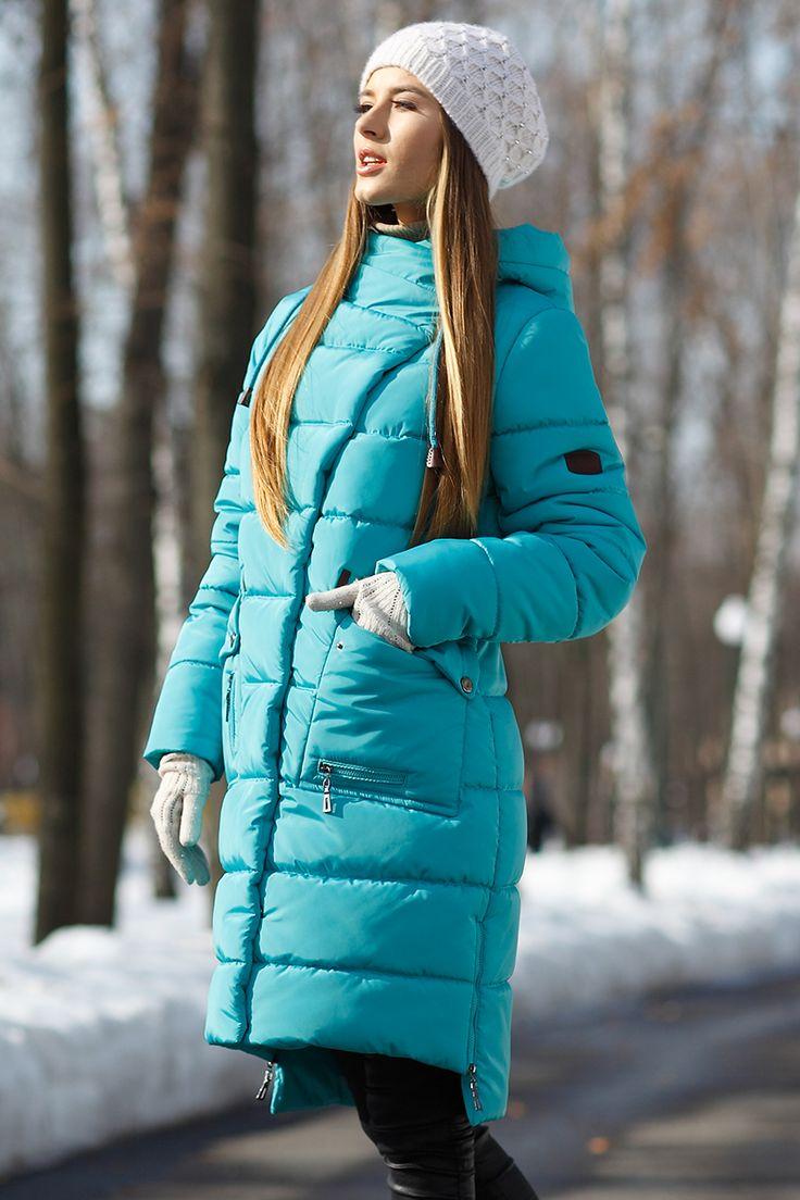 Зимний пуховик пальто Рива от Nui Very - пальто зима 2017-2018, куртка женская 2017 зима, длинная куртка женская, накладные карманы, длинный пуховик