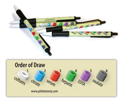 Order of Draw retractable pens - Package of 10