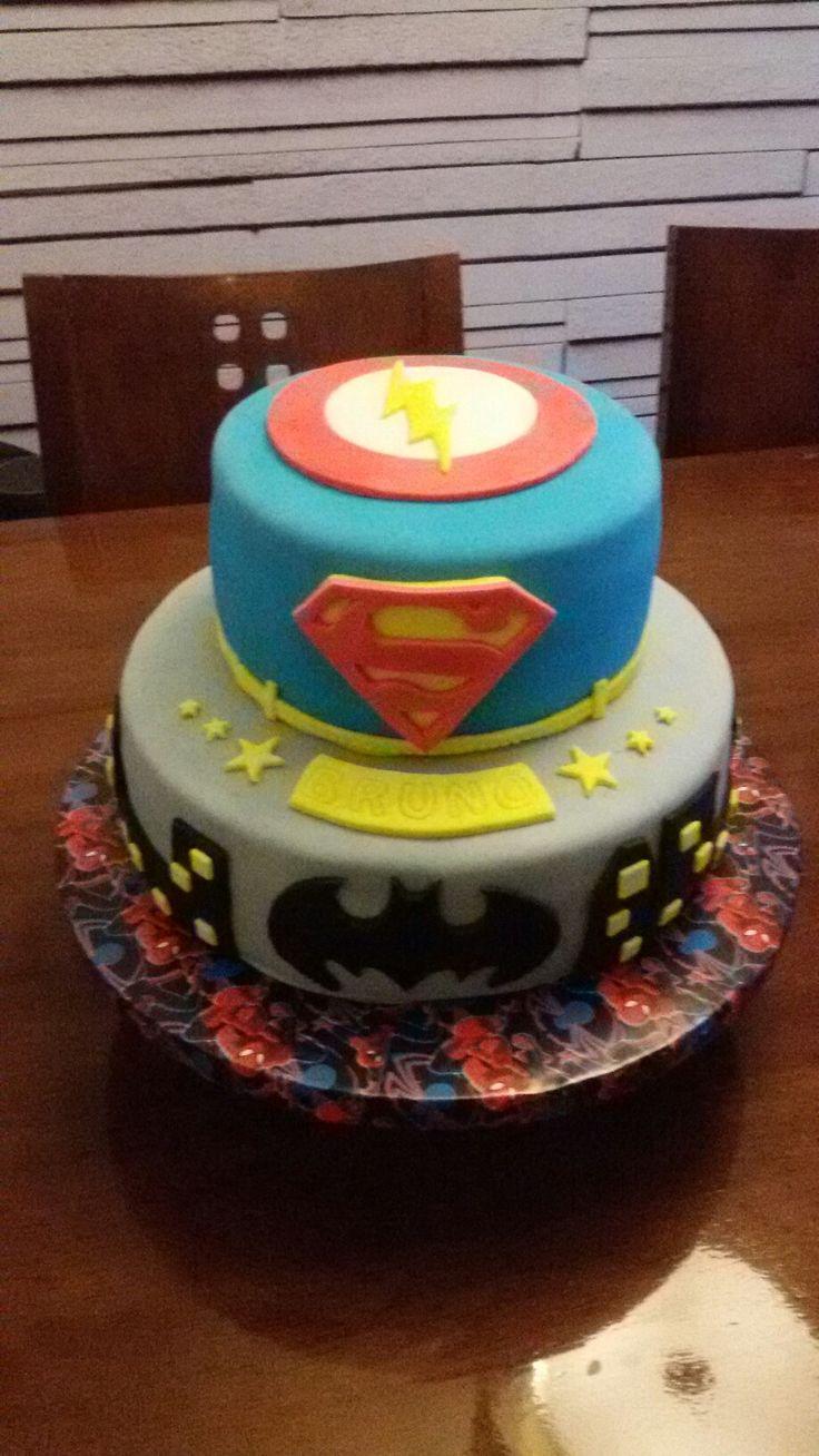 Cake fondant la liga de la justicia