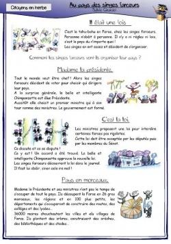 Petits livres pour instruction civique cycle 2 et 3 : exemple : L'organisation de la France cycle 3