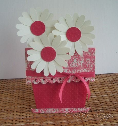 daisy flower pot card