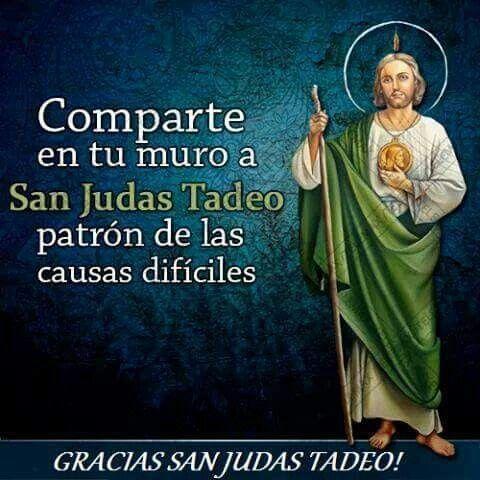 Doy testimonio que recurrí un día a San Judas Tadeo, así como ...