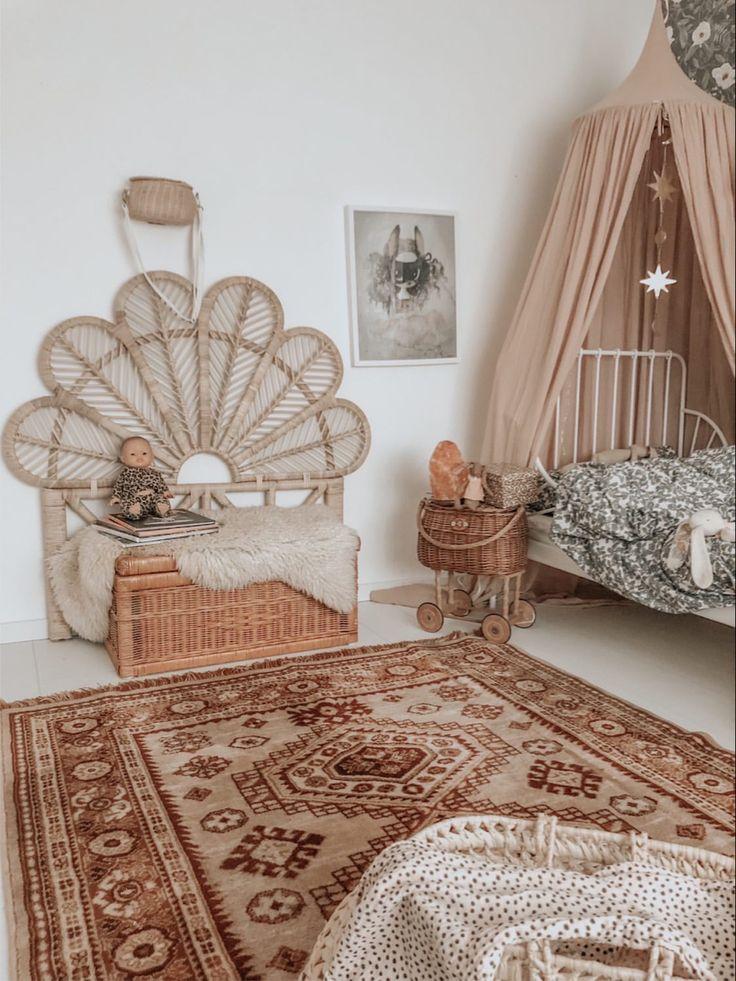 Peacock Bed Hoofdeinde Natural in 2020 Kamer decoratie