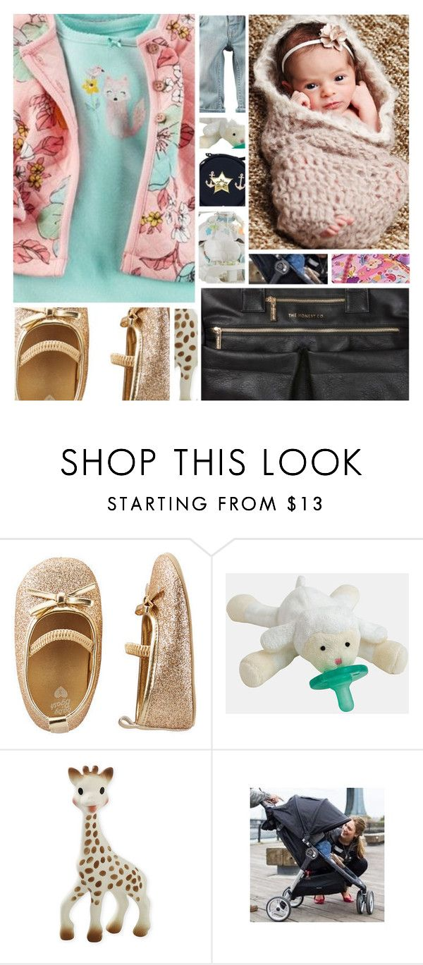 """My Baby's Gonna Be Adorable"" by sbhackney ❤ liked on Polyvore featuring CC SKYE, Fisher Price, Sophie la Girafe and Baby Jogger"