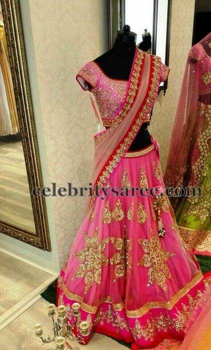 Sequins Gold Work Half Saree | Saree Blouse Patterns