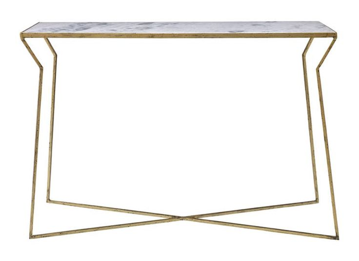 Sanchez Console Table  MidCentury  Modern, Contemporary, Transitional, Metal, Stone, Console Table by Mr Brown London