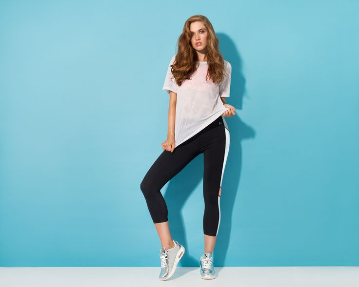 Women's exclusive activewear #meshtee #leggins #fit #meshtop #athleisure