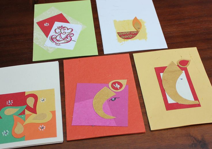 Handmade and ethical Diwali cards made by Earn n Learn. Find out more at info@arushi.co.uk