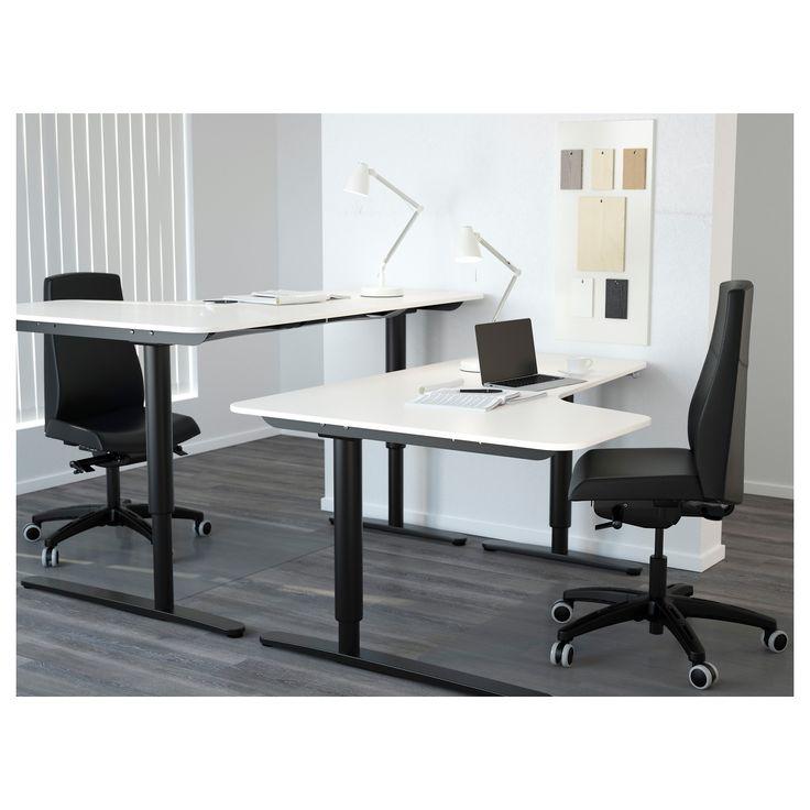 IKEA - BEKANT Left-hand Corner Table Top White