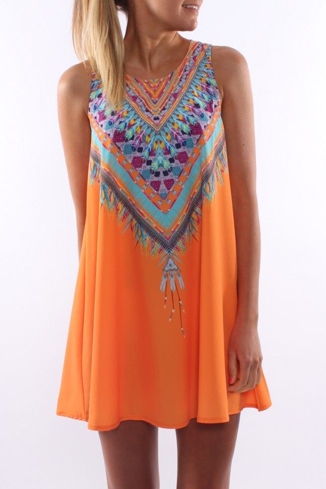 Lakota Dress Orange