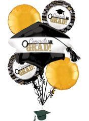 Graduation Balloon Bouquet 6pc – key to success