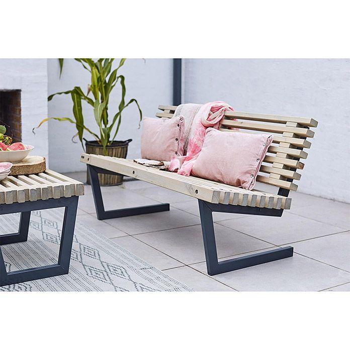 Plus Gartenbank Siesta 140 Cm Holz Stylische Mobel Gartenbank Edelstahl Gartenbank