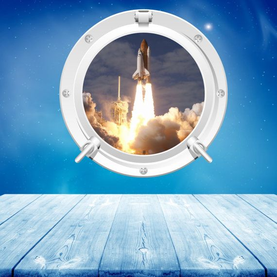 Full Colour Space Shuttle Launch Space Rocket Wall Sticker Kids Bedroom Decal  Mural Wall Art Stickers Part 87