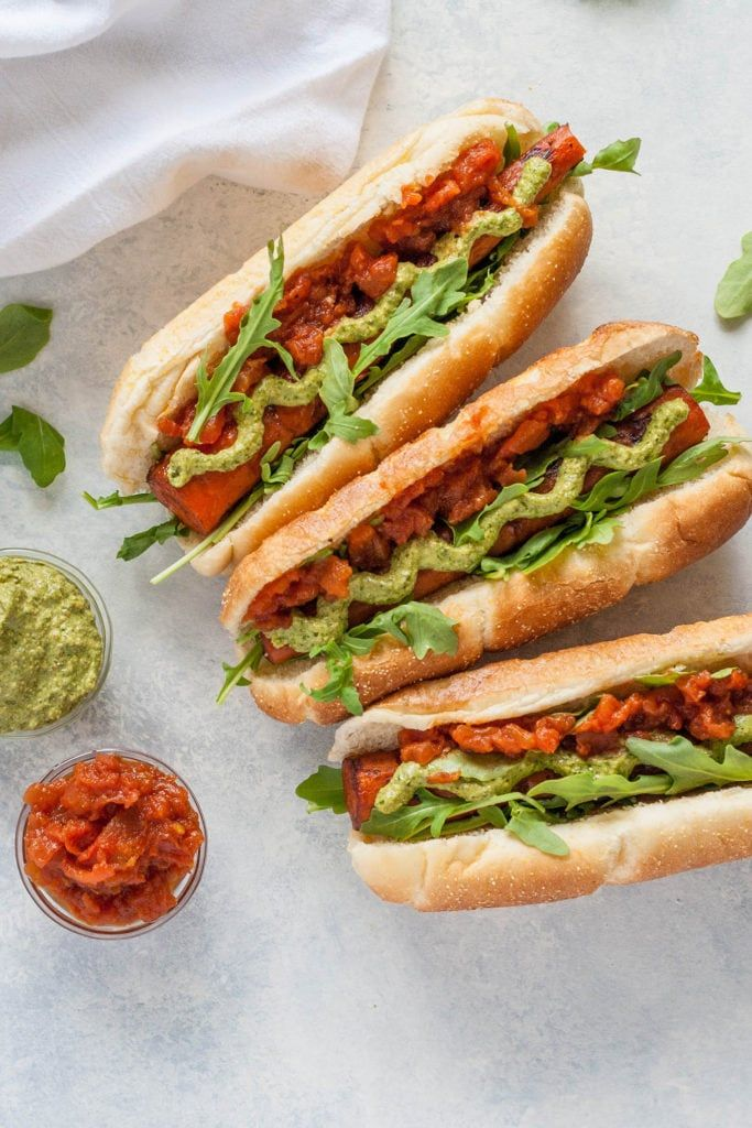 grilled carrot dogs