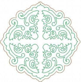 redwork decoration free embroidery design 7. Machine embroidery design. www.embroideres.com