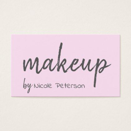 Bold Text Pink Makeup Artist Business Card - diy cyo customize create your own #personalize