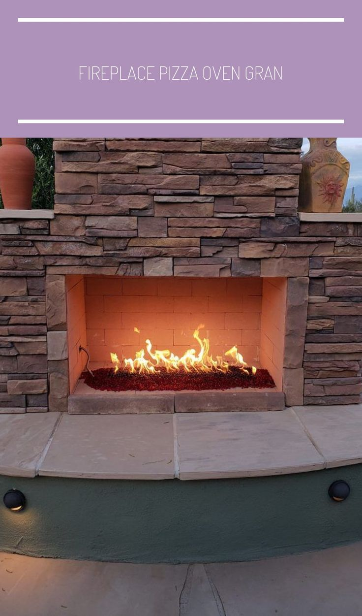 fireplace pizza oven granite flagstone gas fire patio