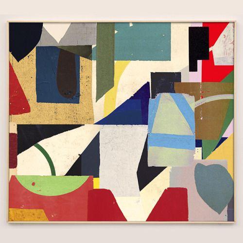 """William LaChance, """"Bryn Mawr El"""", 40 """"x 44"""", peint papier marouflé 2016"""