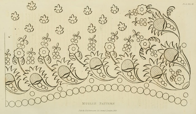 Click through, Courtesy of the wonderful EK Duncan. 36 Authentic Regency Era Needlework Patterns dating from 1826 - 1828