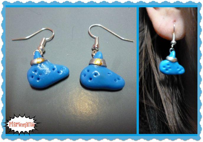 LOZ ocarina earrings
