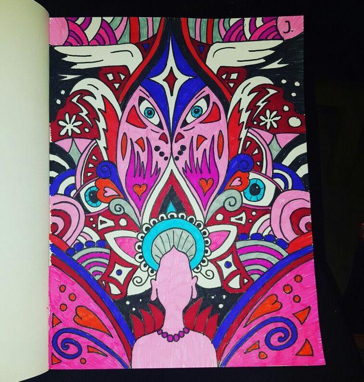 Tekening 2.0 #trip #highonlife #psychedelic #psychedelicart #tekening