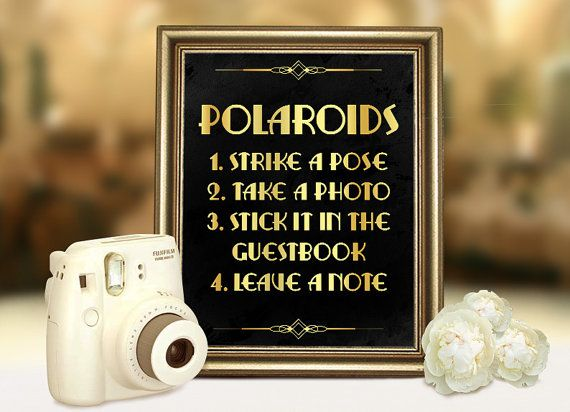 Hey, I found this really awesome Etsy listing at https://www.etsy.com/listing/232206816/great-gatsby-wedding-polaroid-guestbook