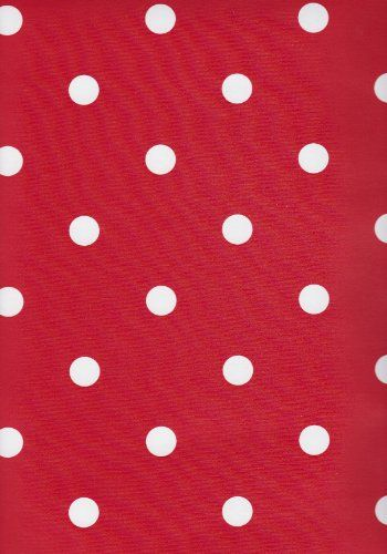 Wachstischdecke 100x140 cm Rot mit Weißen Punkten Tischdecke -sonst auch mal wegen Meterware gucken