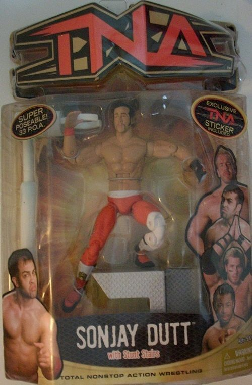 Sonjay Dutt with Stunt Stairs Total Nonstop Action Wrestling TNA 2006 NIB #MarvelToys