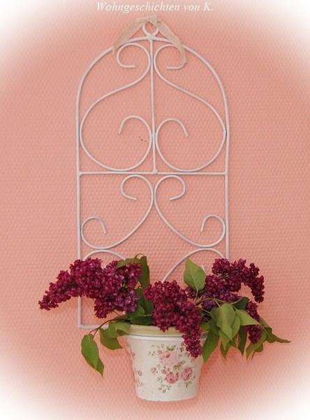 wandhalter blumentopf rosen. Black Bedroom Furniture Sets. Home Design Ideas
