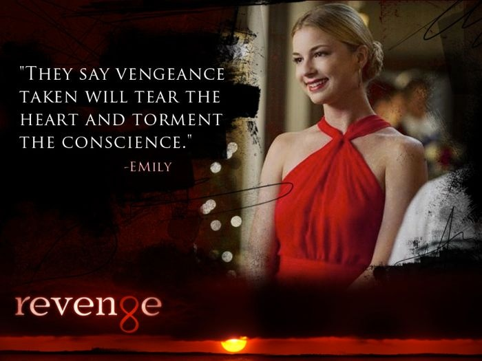 """""""They say vengeance taken will tear the heart and torment the conscience"""" - #Emily #Revenge"""