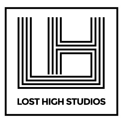 The Lost High Studios logo by Guilty343 retro 70s inspired design