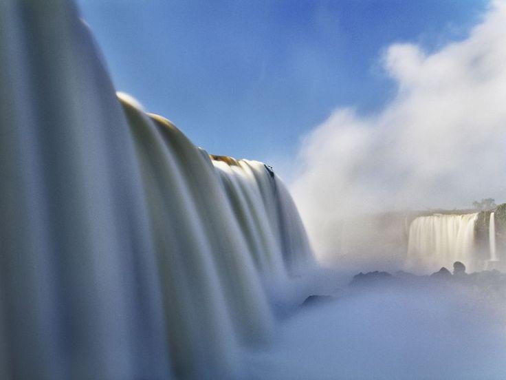 Iguaçu Falls on the border of Brazil and Argentina.