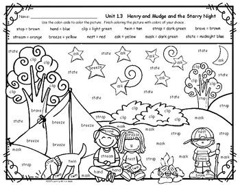 Reading Street Grade 2 FREE Color by Word HENRY AND MUDGE ...