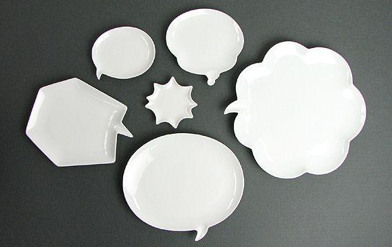 Ceramic Japan(セラミックジャパン)/皿 「吹き出し型プレート Chat! チャット」(CN-6)