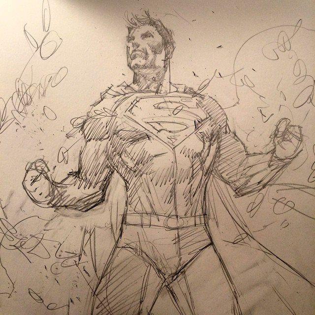 Superman Unchained sketch by Jim Lee *