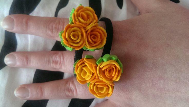 Фоамиран, цветы ручной работы, цветы из фоамирана, маленькие розы, розы, розы из Фоамирана, маленькие заколки, заколки из фоамирана, заколки на резинке