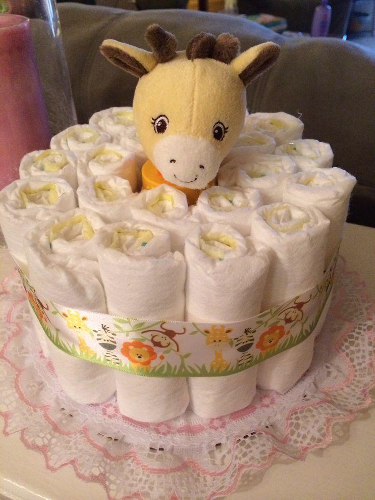 Small Diaper Cake