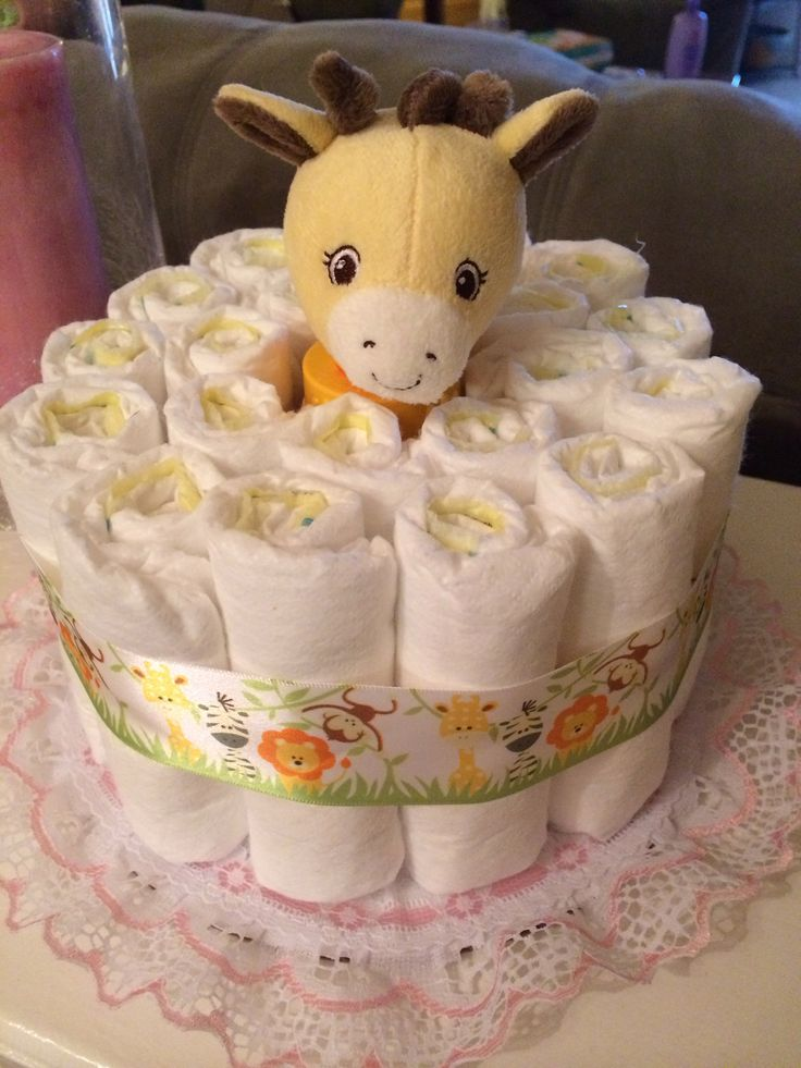 Small Diaper Cake - image only