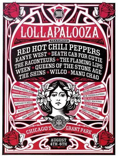 Fairey Lollapalooza. I wish I was there :(