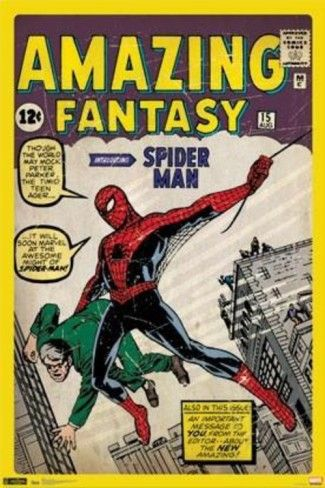 Spider-Man Amazing Fantasy 15 Comic Poster Posters at AllPosters.com Redoing JDs room is classic superhero comic book posters.