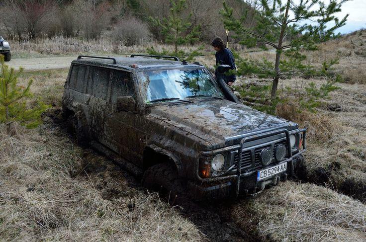 Nissan Patrol in Deep Mud