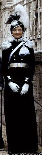 Tatiana in the uniform of 'her' 8th Vosnesensky Lancers