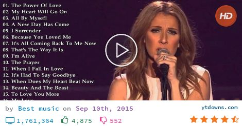 Celine dion songs download free mp3.