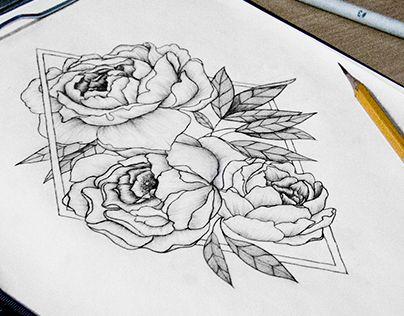 "Check out new work on my @Behance portfolio: ""Эскиз татуировки. Пионы."" http://be.net/gallery/37278679/eskiz-tatuirovki-piony"
